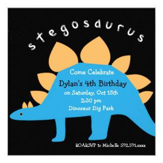 Convites de festas de aniversários do dinossauro d
