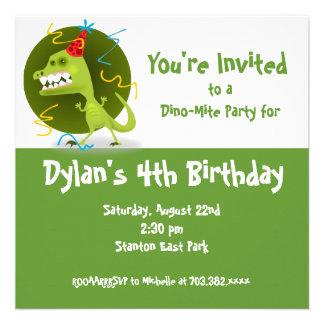 Convites de festas de aniversários do dinossauro v