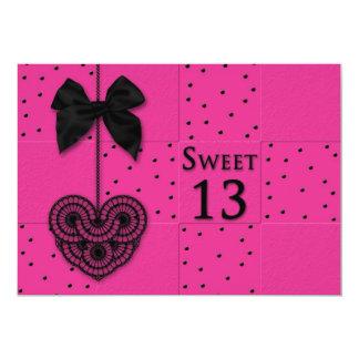 Convites de festas de aniversários do doce 13
