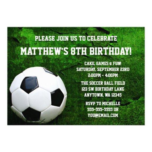 Convites de festas de aniversários do futebol