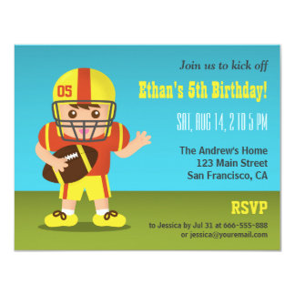 Convites de festas de aniversários do futebol do