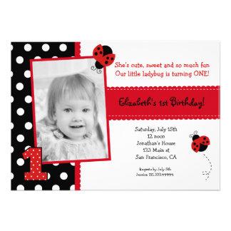 Convites de festas de aniversários do joaninha