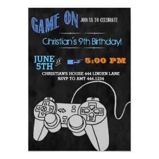 Convites de festas de aniversários do jogo de