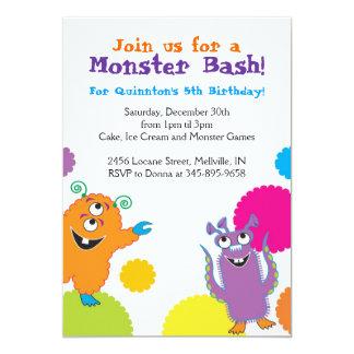 Convites de festas de aniversários do monstro