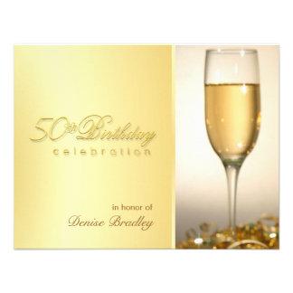 Convites de festas de aniversários do ouro 50th