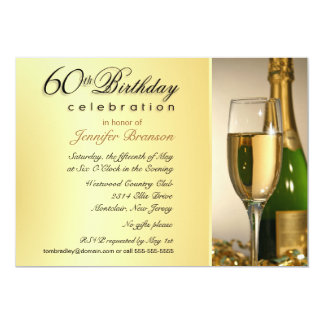 Convites de festas de aniversários do ouro 60th