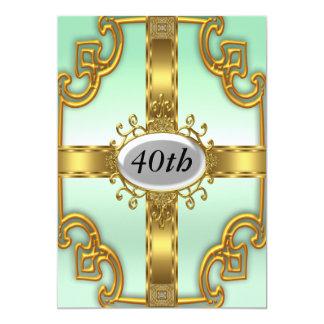 Convites de festas de aniversários do ouro da convite 12.7 x 17.78cm