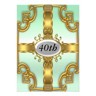 Convites de festas de aniversários do ouro da cerc