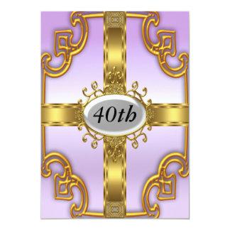 Convites de festas de aniversários do ouro de