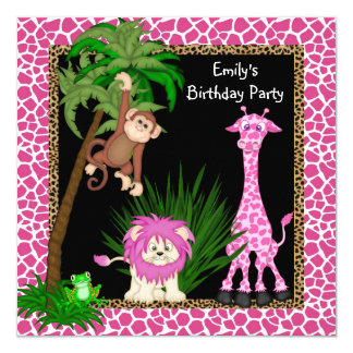 Convites de festas de aniversários do safari de