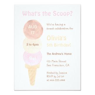 Convites de festas de aniversários do sorvete do