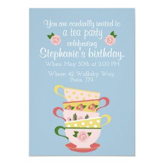 Convites de festas de aniversários do Teacup