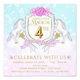 Convites de festas de aniversários do unicórnio