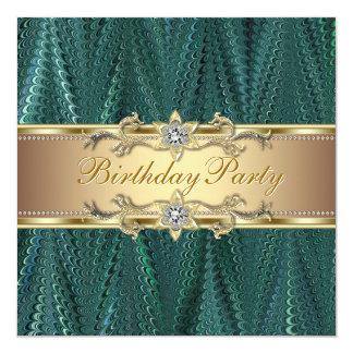 Convites de festas de aniversários do verde azul