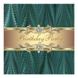 Convites de festas de aniversários do verde azul d