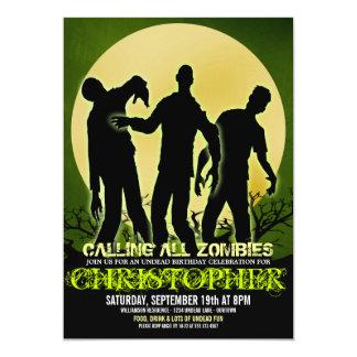 Convites de festas de aniversários do zombi da Lua