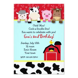 Convites de festas de aniversários dos animais de