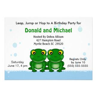 Convites de festas de aniversários dos gêmeos (sap