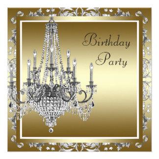 Convites de festas de aniversários elegantes do ca