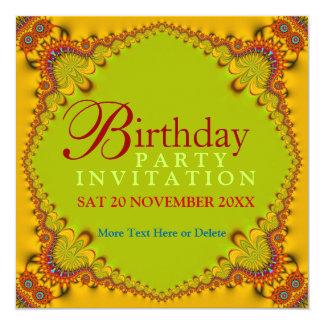 Convites de festas de aniversários Funky do adulto