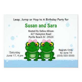 Convites de festas de aniversários gêmeos das