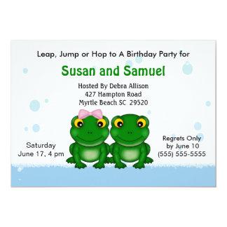 Convites de festas de aniversários gêmeos do
