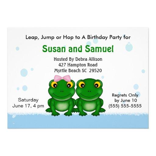 Convites de festas de aniversários gêmeos do menin