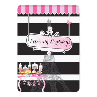 Convites de festas de aniversários Glam de Paris