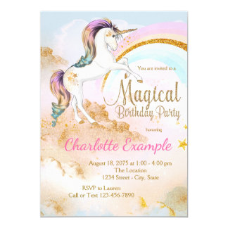 Convites de festas de aniversários mágicos do