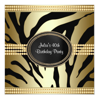 Convites de festas de aniversários pretos da zebra