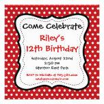 Convites de festas de aniversários pretos vermelho