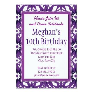 Convites de festas de aniversários roxos do teste