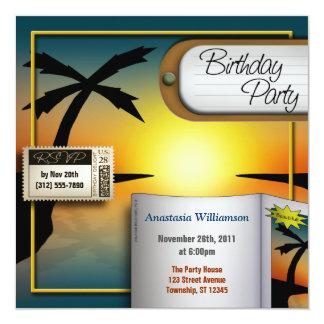 Convites de festas de aniversários tropicais do
