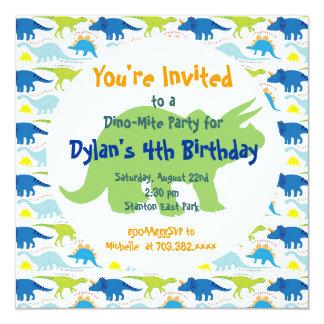 Convites de festas de aniversários verdes & azuis