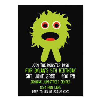 Convites de festas de aniversários verdes bonitos