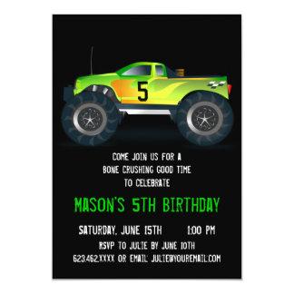 Convites de festas de aniversários verdes grandes convite 12.7 x 17.78cm