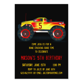 Convites de festas de aniversários vermelhos convite 12.7 x 17.78cm