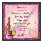 Convites de festas de RockStar Convite Quadrado 13.35 X 13.35cm