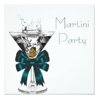 Convites de festas de vidro de Martini Martini
