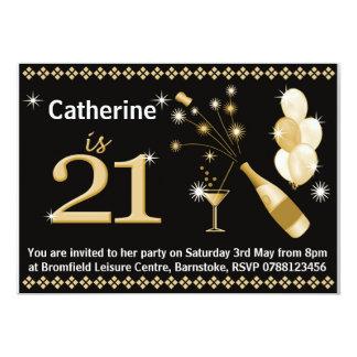 Convites de festas do aniversário de 21 anos -