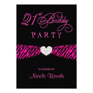 Convites de festas do aniversário de 21 anos - zeb