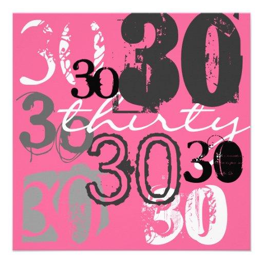 Convites de festas do aniversário de 30 anos