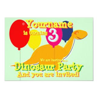 Convites de festas do aniversário de 3 anos do convite 12.7 x 17.78cm
