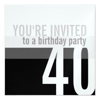Convites de festas do aniversário de 40 anos