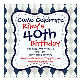 Convites de festas do aniversário de 40 anos de