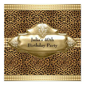 Convites de festas do aniversário de 40 anos do