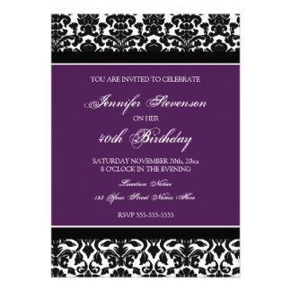 Convites de festas do aniversário de 40 anos do da