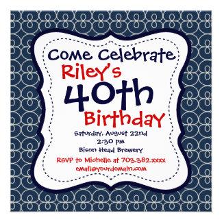 Convites de festas do aniversário de 40 anos dos a