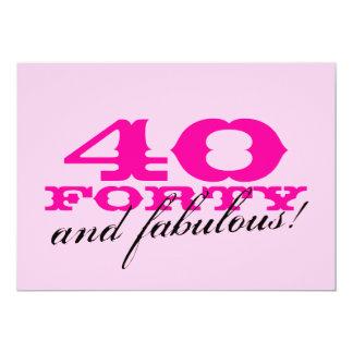 Convites de festas do aniversário de 40 anos para