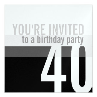 Convites de festas do aniversário de 40 anos {prat